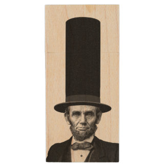 Abraham Lincoln Presidential Fashion Statement Wood USB 2.0 Flash Drive