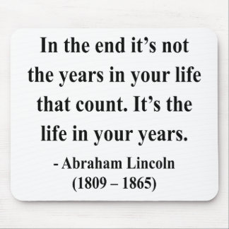 Abraham Lincoln Quote 2a Mouse Pads