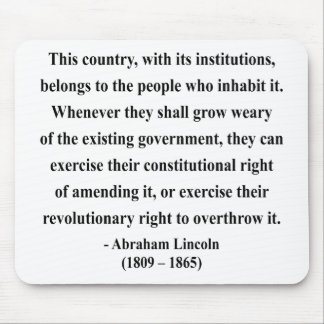 Abraham Lincoln Quote 9a Mouse Pad