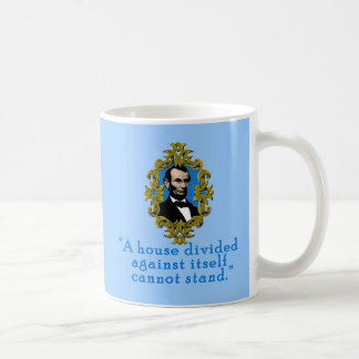 Abraham Lincoln Quote A House Divided Basic White Mug