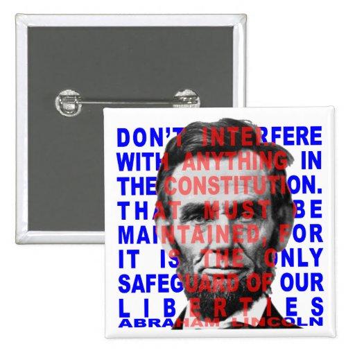 Abraham Lincoln Quote Button