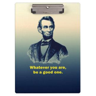 Abraham Lincoln Quote Clipboard