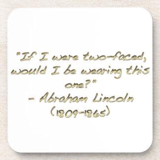 Abraham Lincoln quote Coaster
