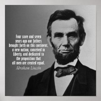 Abraham Lincoln Quote - Gettysburg Address Print