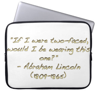 Abraham Lincoln quote Laptop Sleeves