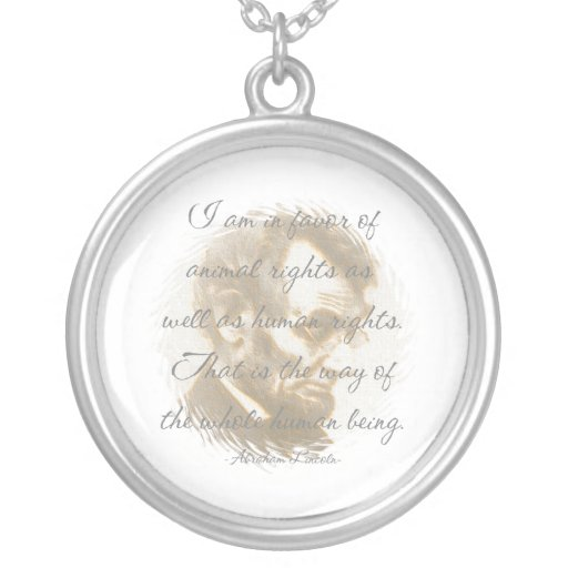 Abraham Lincoln Quote Necklace
