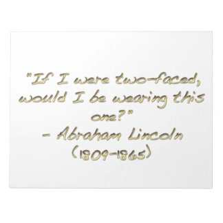Abraham Lincoln quote Memo Note Pads