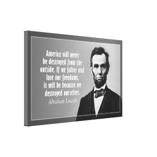 Abraham Lincoln Quote on America Stretched Canvas Prints