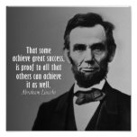 Abraham Lincoln Quote on Success Poster