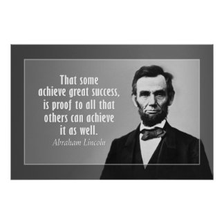 Abraham Lincoln Quote on Success Print