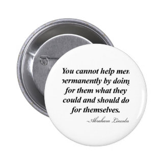 Abraham Lincoln Quote Pin