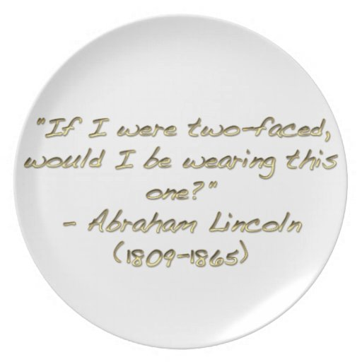 Abraham Lincoln quote Party Plates