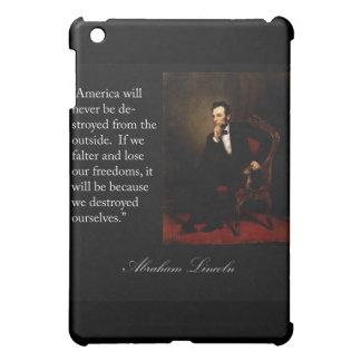 Abraham Lincoln Quote & Portrait iPad Mini Cover