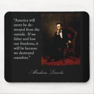Abraham Lincoln Quote Portrait Mousepad