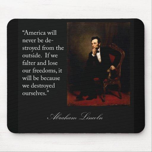 Abraham Lincoln Quote & Portrait Mousepad