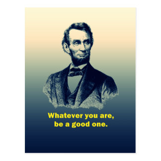 Abraham Lincoln Quote Postcard
