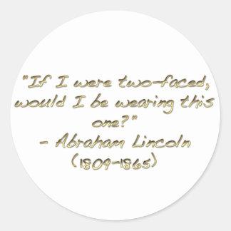 Abraham Lincoln quote Classic Round Sticker