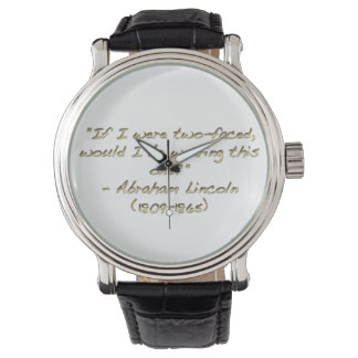 Abraham Lincoln quote Watches