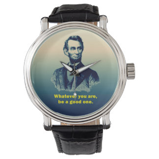 Abraham Lincoln Quote Wristwatch
