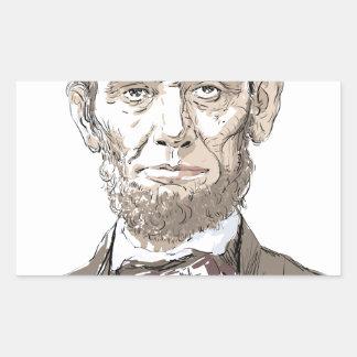 Abraham Lincoln Rectangular Sticker