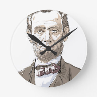 Abraham Lincoln Round Clock