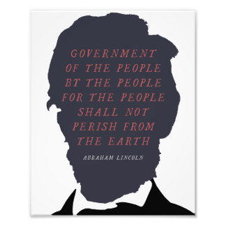 Abraham Lincoln Silhouette Photo Art