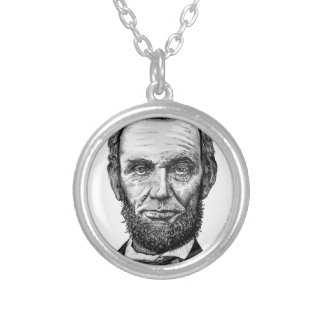 Abraham Lincoln Silver Plated Necklace