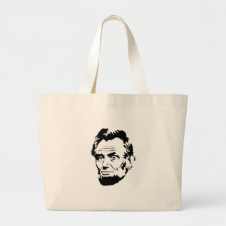 Abraham Lincoln Sketch Large Tote Bag