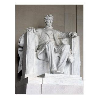 Abraham Lincoln Statue Lincoln Memorial Washington Postcard