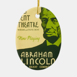 Abraham Lincoln The Great Commoner Ceramic Ornament