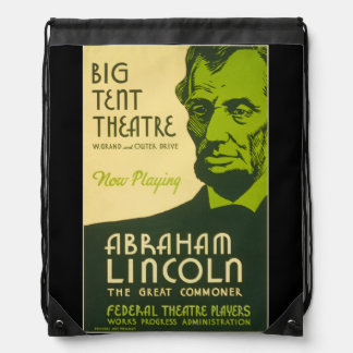Abraham Lincoln The Great Commoner Drawstring Bag