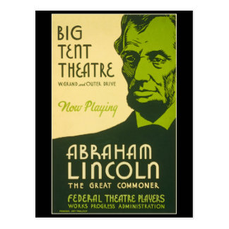 Abraham Lincoln The Great Commoner Postcard