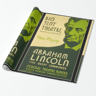 Abraham Lincoln The Great Commoner Wrapping Paper