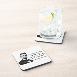 Abraham Lincoln Troll Quote Beverage Coaster
