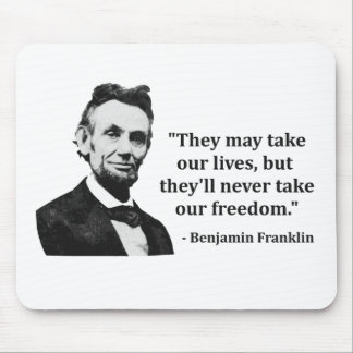 Abraham Lincoln Troll Quote Mouse Pad