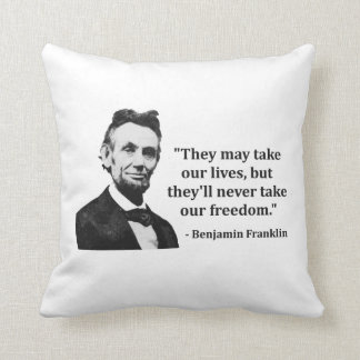 Abraham Lincoln Troll Quote Pillows