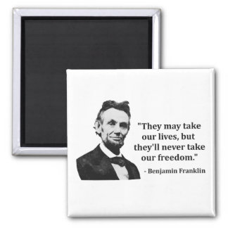 Abraham Lincoln Troll Quote Refrigerator Magnet