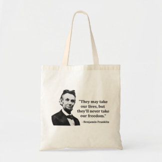 Abraham Lincoln Troll Quote Tote Bags