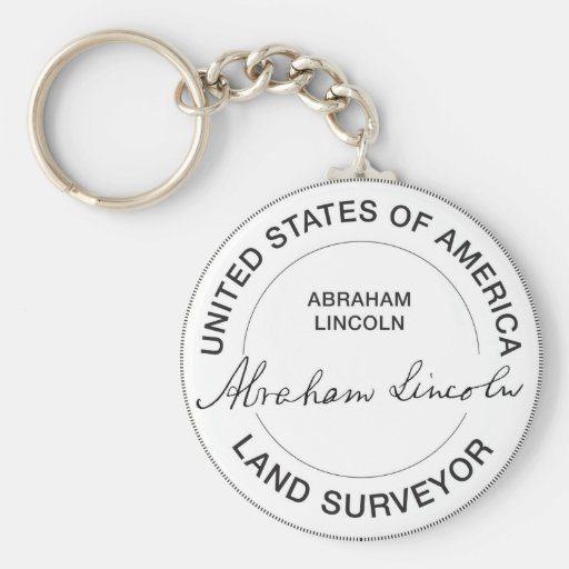 Abraham Lincoln US Land Surveyor Seal Keychain