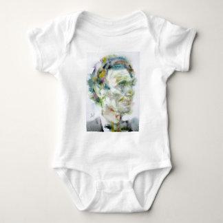 ABRAHAM LINCOLN - watercolor portrait Baby Bodysuit