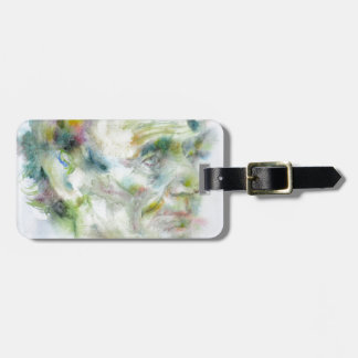 ABRAHAM LINCOLN - watercolor portrait Luggage Tag