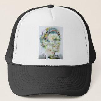 ABRAHAM LINCOLN - watercolor portrait Trucker Hat