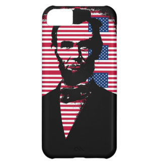 Abraham Lincoln with American Flags Case For iPhone 5C