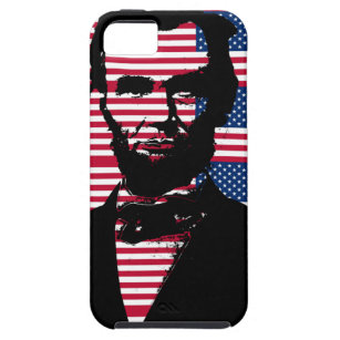 Abraham Lincoln with American Flags Tough iPhone 5 Case