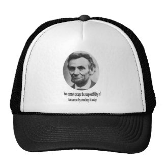Abraham Lincoln with Quote Mesh Hat