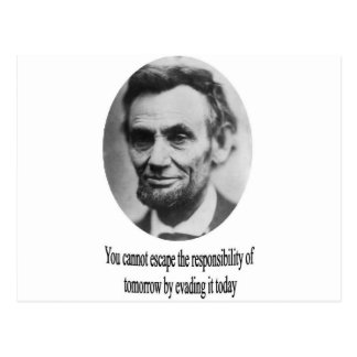 Abraham Lincoln with Quote Postcard