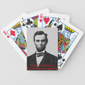 Abraham Lincoln's American Pride Bicycle Playing Cards