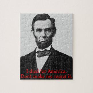 Abraham Lincoln's American Pride Jigsaw Puzzle