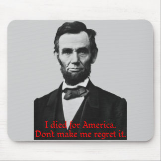 Abraham Lincoln's American Pride Mouse Pad