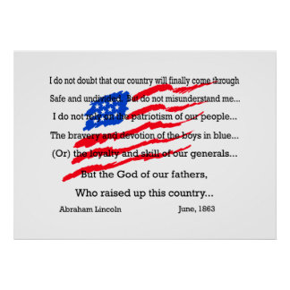 Abraham Lincoln's Words Poster